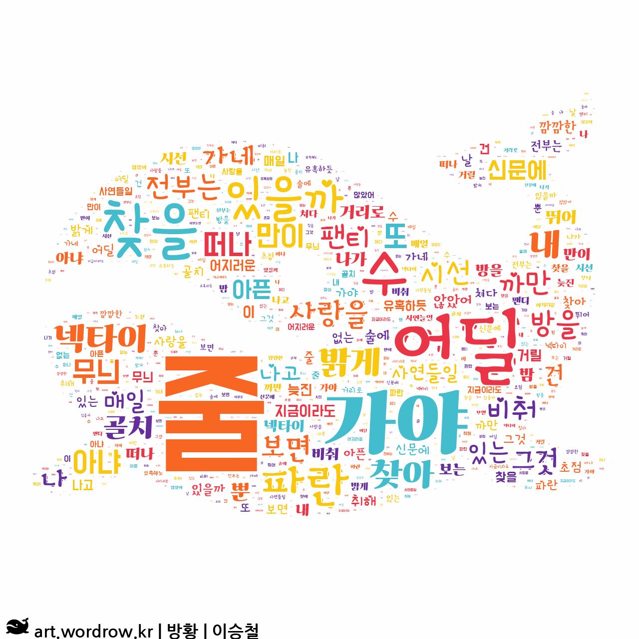 워드 아트: 방황 [이승철]-17